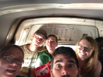 My post-IST vacation group! This is what a fairly average minibus ride looks like, but with fewer Americans.